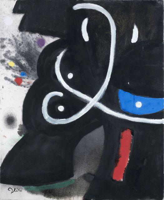 Joan MIRO 1893 - 1983 Personnage - 1974 Huile sur toile