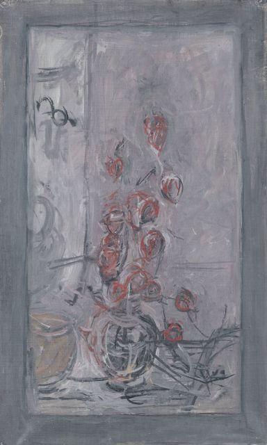 Alberto GIACOMETTI 1901 - 1966 Bouquet - Circa 1963-1964 Huile sur toile