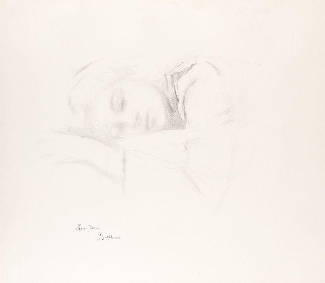 Klossowski de Rola, dit BALTHUS 1908 - 2001 Katia - 1973-1974 Crayon sur papier