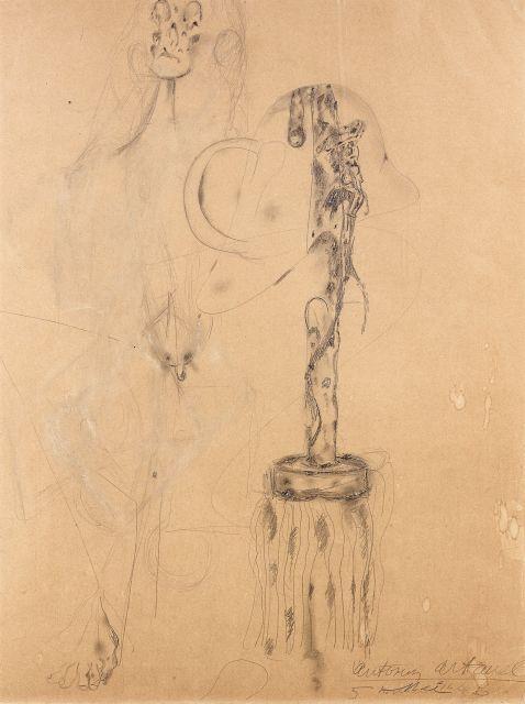 Antonin ARTAUD 1896 - 1948 La balayette - 1946 Crayon sur papier
