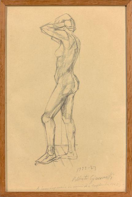 Alberto GIACOMETTI 1901 - 1966 Nu debout de profil - 1922-1923 Mine de plomb sur papier