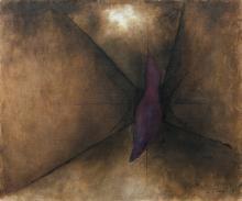 Josef SIMA 1891 - 1971 Impasse I - 1968 Huile sur toile