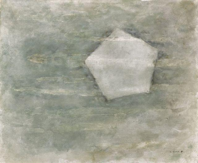 Josef SIMA 1891 - 1971 Composition - 1970 Huile sur toile