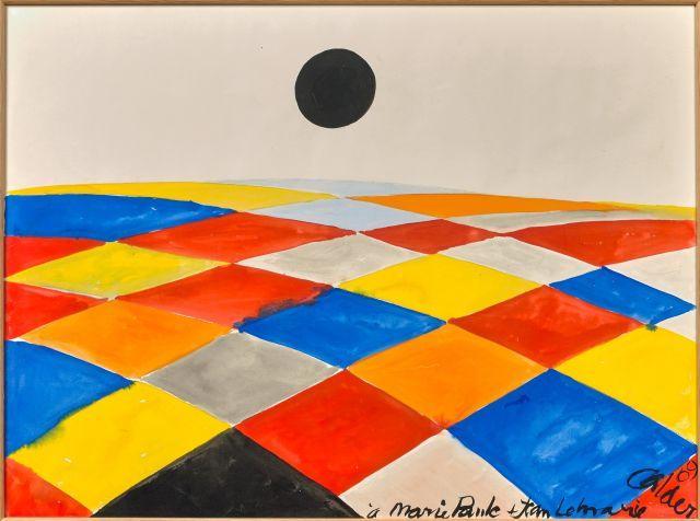 Alexander CALDER 1898 - 1976 Composition - 1969 Gouache sur papier