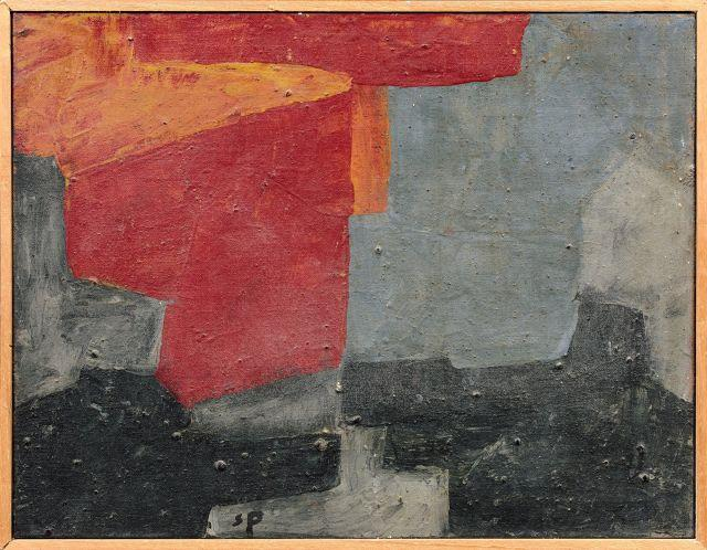 Serge POLIAKOFF 1900 - 1969 Composition - 1966 Huile sur toile