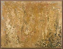 Olivier DEBRÉ (1920 - 1999) PEUPLIERS JAUNES (LES MADERES) - 1959 Huile sur toile