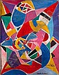 Natalia DUMITRESCO (1915-1997) COMPOSITION Huile sur toile, Natalia Dumitresco, Click for value