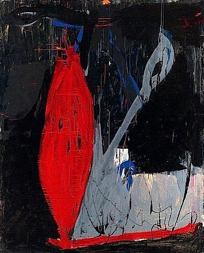 Tony SOULIE (né en 1955) COEUR BATTANT, 1985 Acrylique sur toile