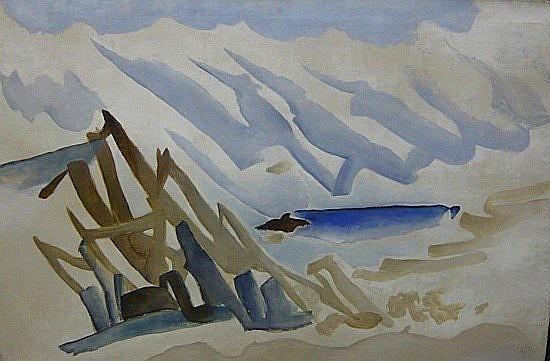 Roger CHASTEL (1897-1981) LE VENT II , 1956 Huile sur toile
