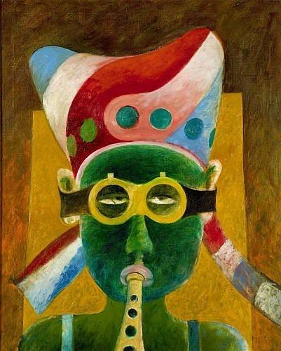 Martin ENGELMAN (1924 - 1992) GERHART DER BLASER, 1969 Huile sur toile