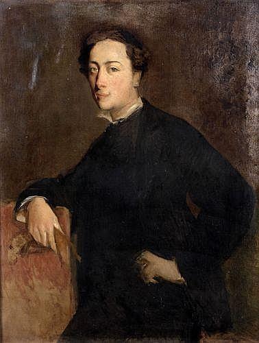 Paul-Albert Besnard Paris, 1849 -1934 Portrait du sculpteur Alfred Lenoir Huile sur toile