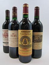 4 bouteilles 1 bt : CHÂTEAU COS D'ESTOURNEL 1992 2è GC Saint Estèphe