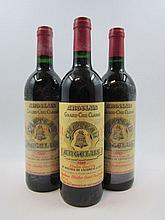 10 bouteilles CHÂTEAU ANGELUS 1989 GCC Saint Emilion (la majorité des bouteilles de cette cave ont des étiquettes protégées par un film
