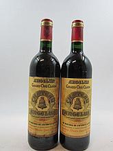 6 bouteilles CHÂTEAU ANGELUS 1995 GCC Saint Emilion (la majorité des bouteilles de cette cave ont des étiquettes protégées par un film