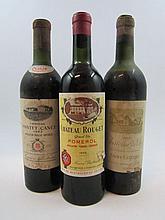 4 bouteilles 1 bt : CHÂTEAU DE PEZ 1955 Saint Estèphe (mi-épaule, étiquette abimée, bouchon poussé)