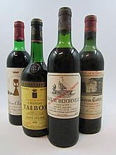 6 bouteilles  1 bt : CHÂTEAU TAILLEFER 1964 Pomerol (mi-épaule) 2 bts : CHÂTEAU TALBOT 1970 4è GC Saint Julien (1 légèrement bas,...