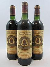 3 bouteilles CHÂTEAU ANGELUS 1982 GCC Saint Emilion (1 base goulot