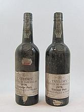 2 bouteilles PORTO TAYLOR'S 1978 Quinta do Vargelas