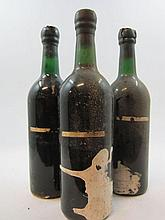 3 bouteilles PORTO FONSECA 1970 Vintage (sans étiquettes