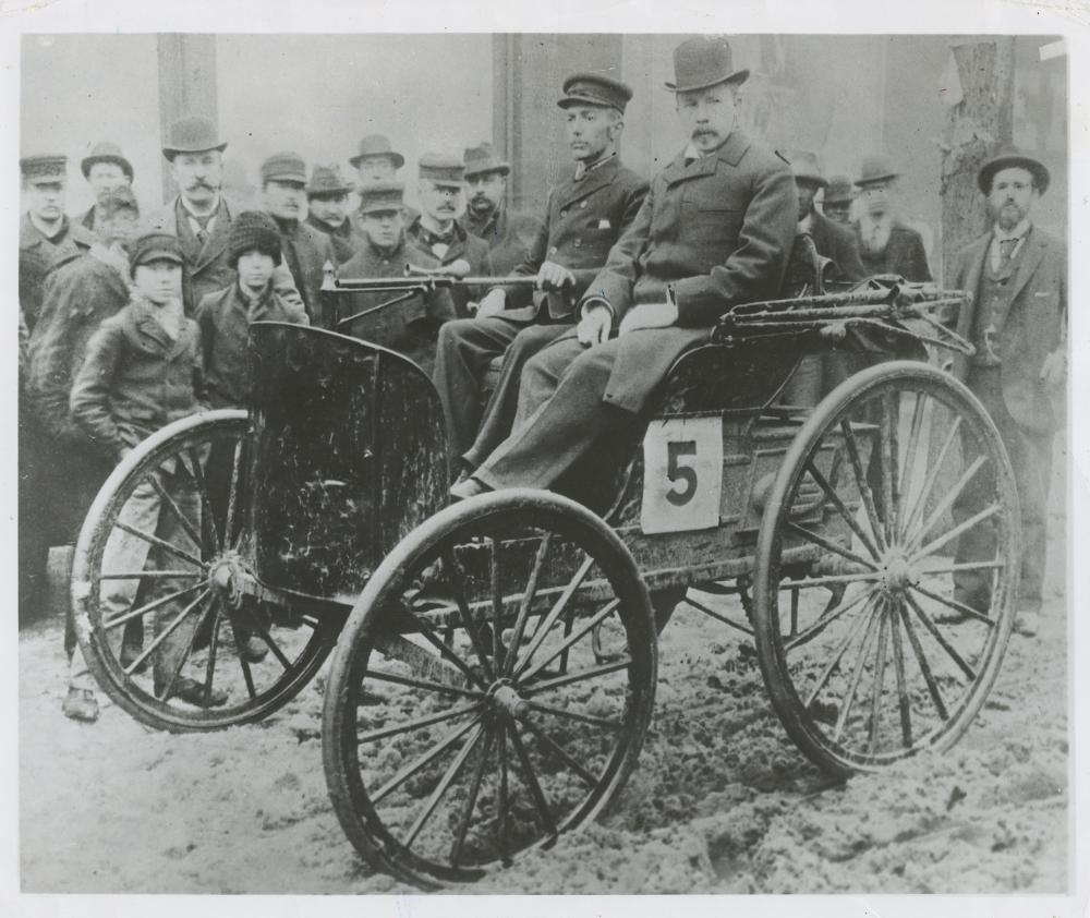 Vintage Rare Photo DURYEA 1st USA Car, 1895