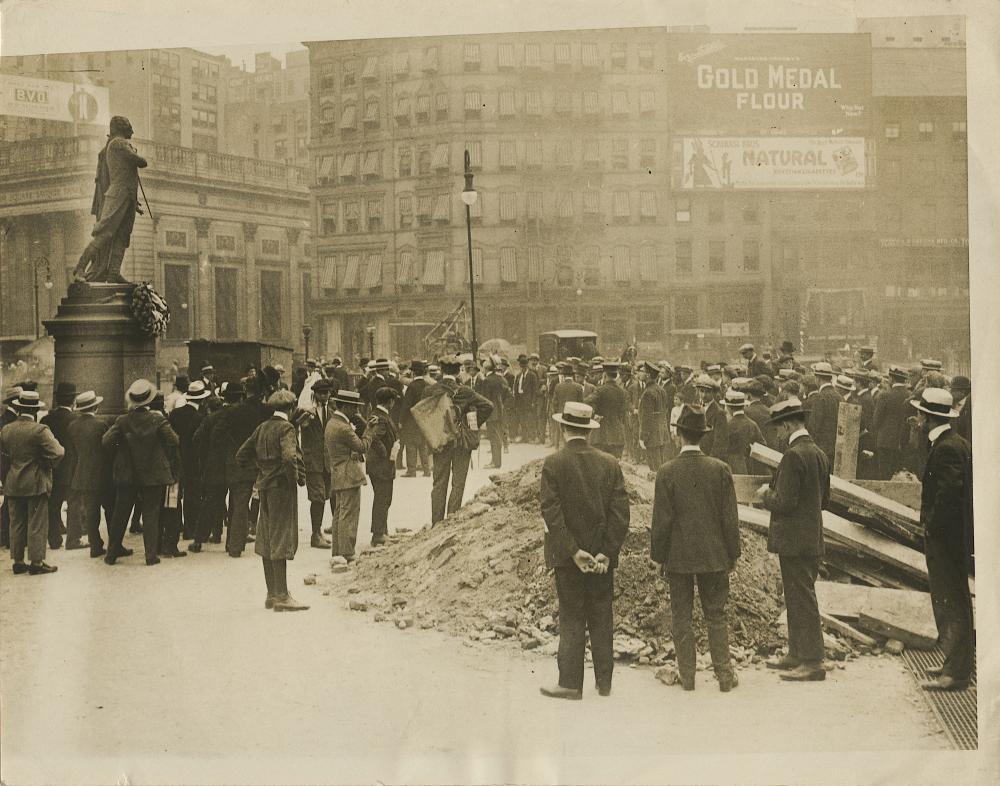 Vintage Antique Rare Photo New York Lafayette Day, 1920
