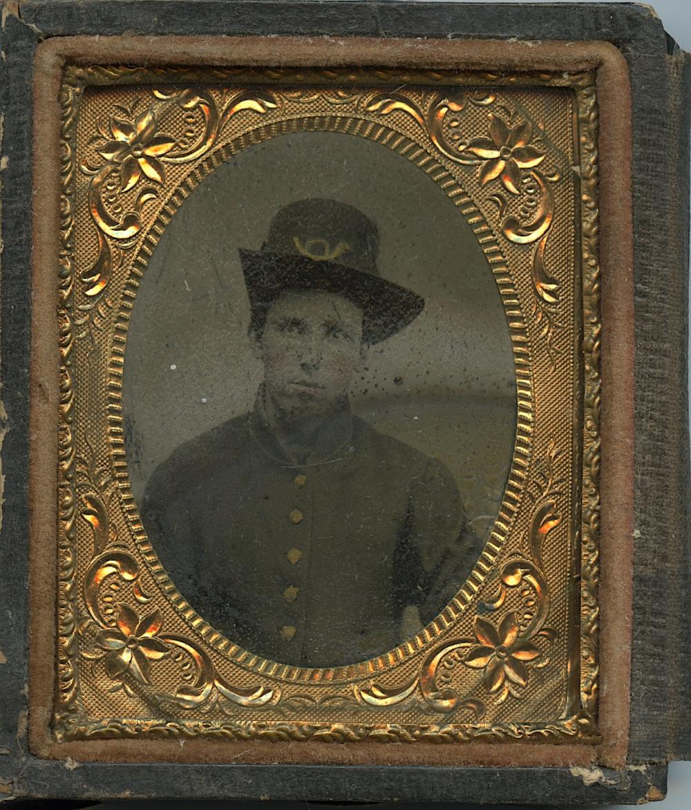 Antique Tintype Photo Americana Civil War Soldier