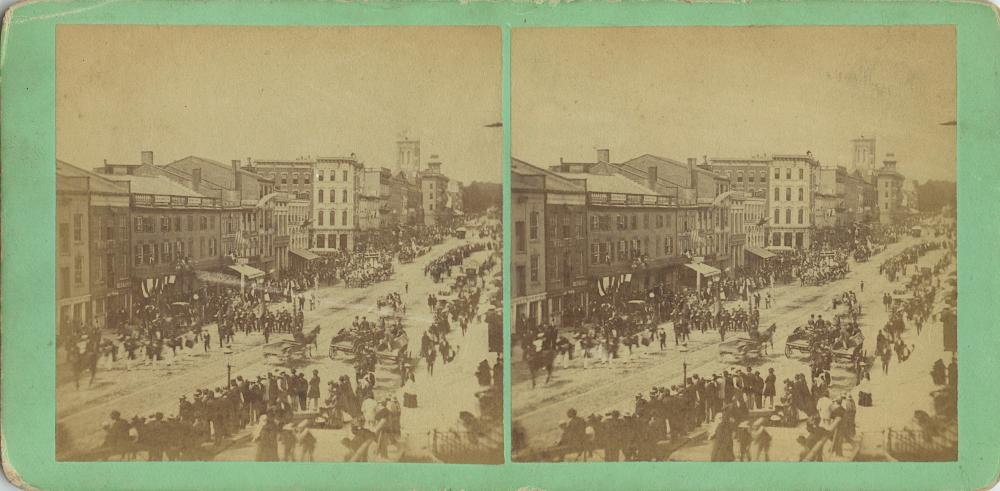 Antique Real Photo Stereoview Franklyn Square New York