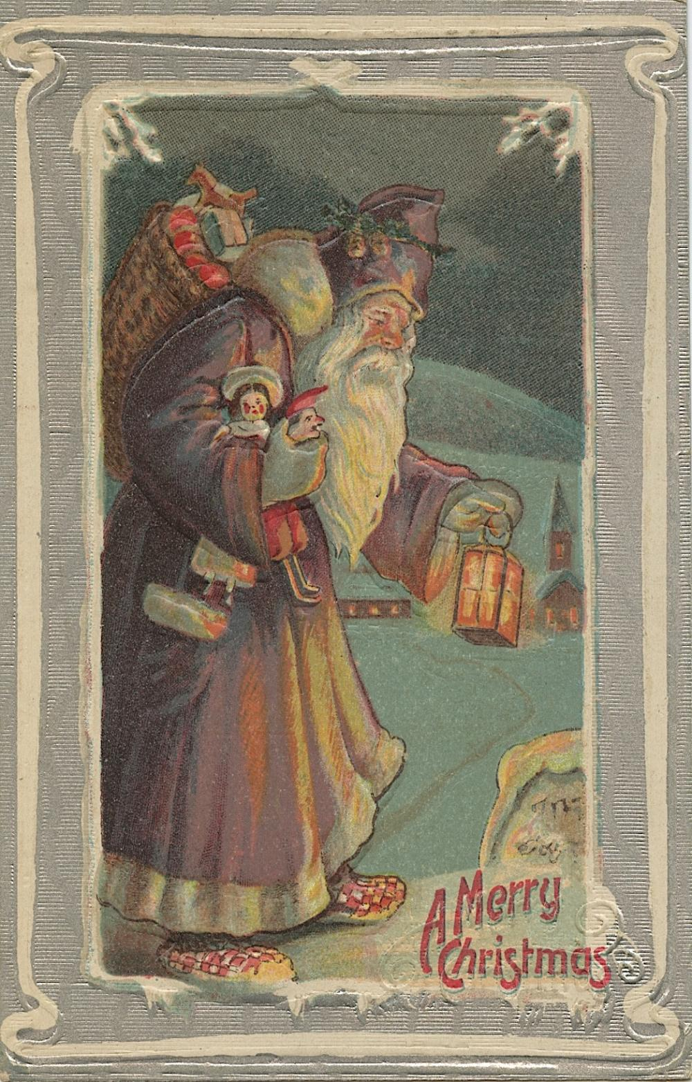 Antique Vintage Rare Postcard Christmas Noel
