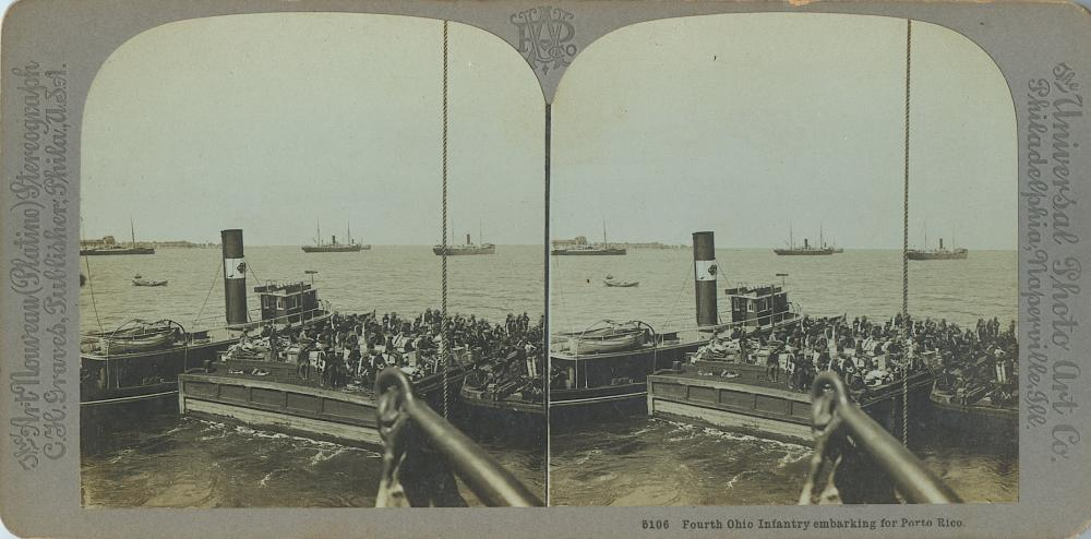 Antique Real Photo Stereoview Spanish American War