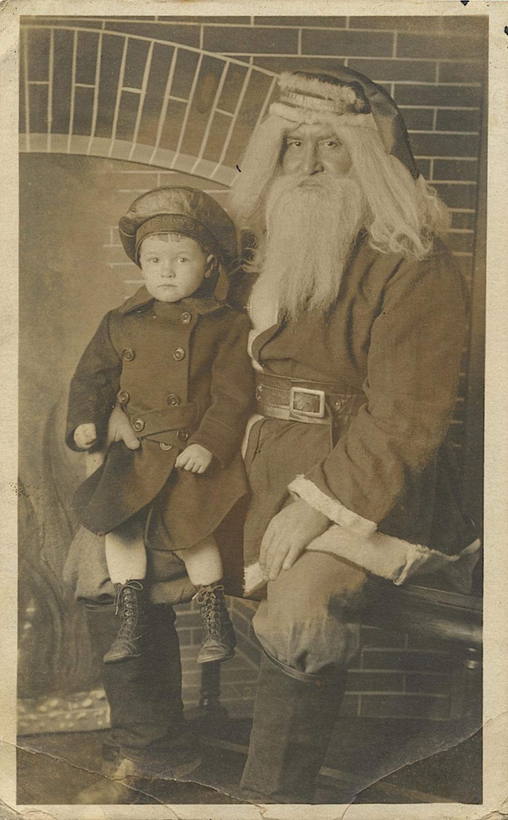 Antique Real Photo Postcard Christmas Noel