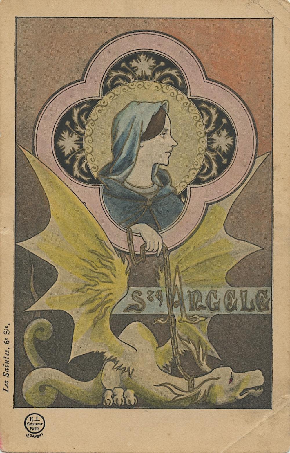 Antique Vintage Rare Postcard Illust. Deco Nouveau