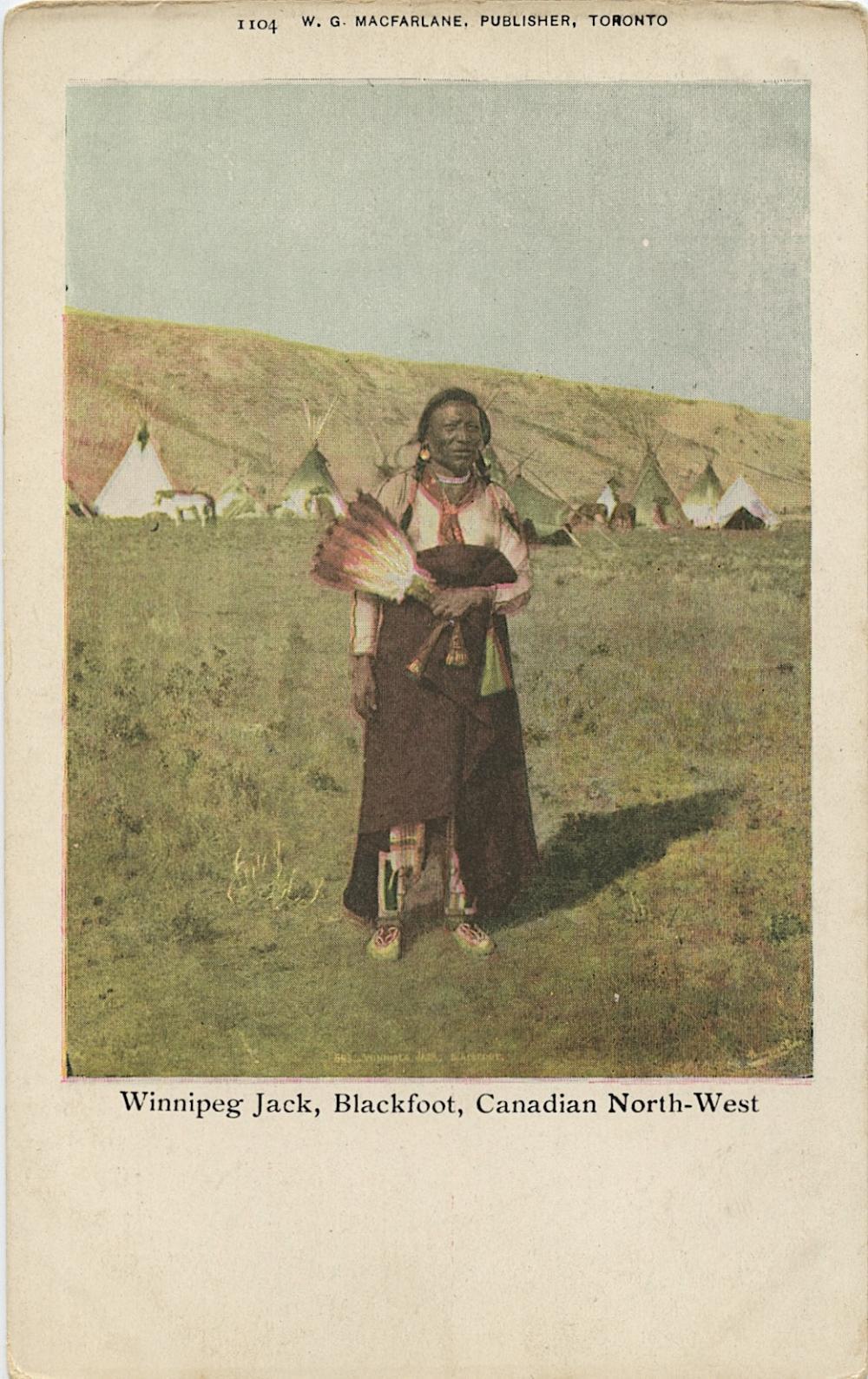 Antique Vintage Rare Postcard Indian Canadian