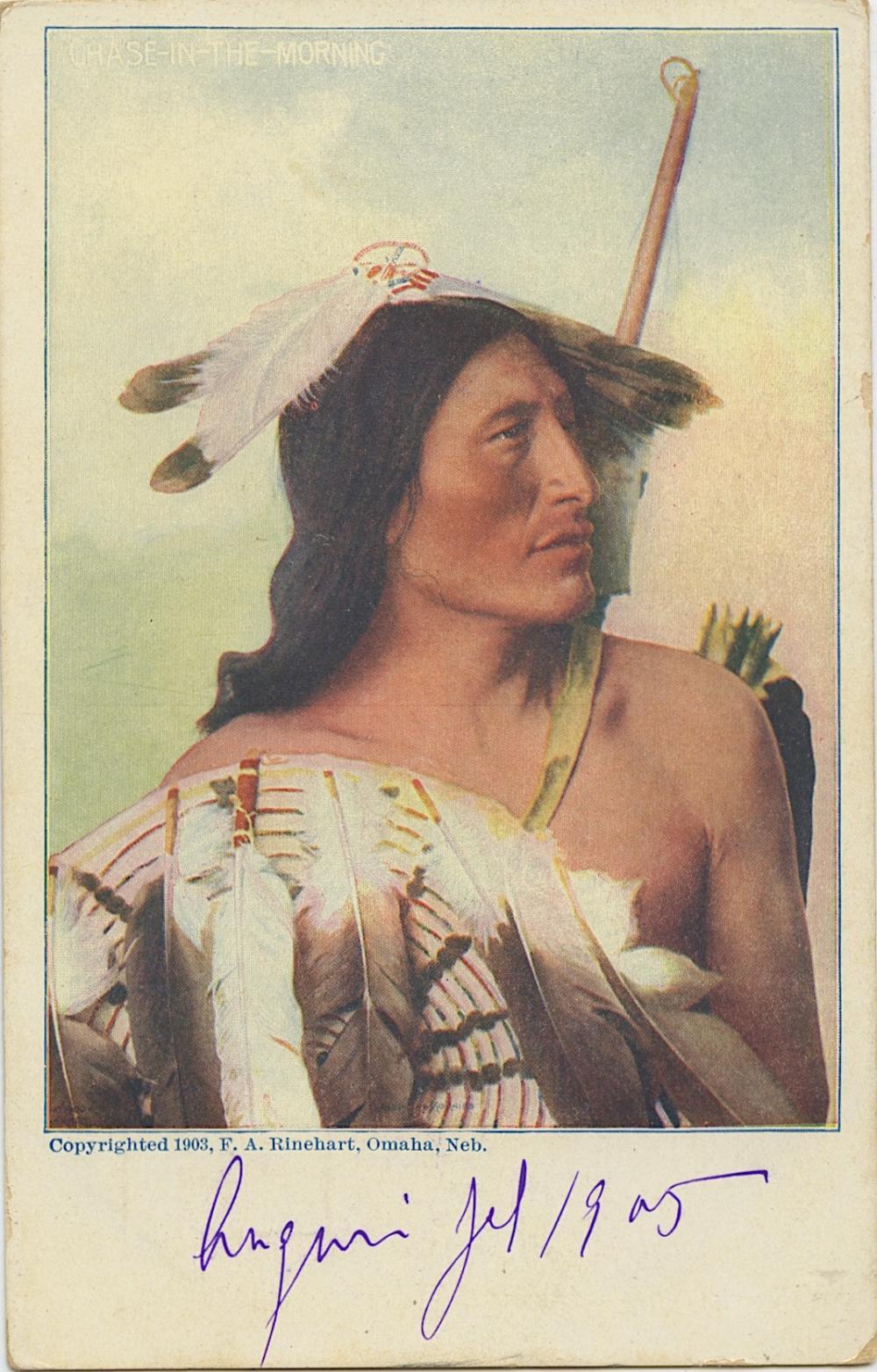 Antique Vintage Rare Postcard Indian Signed