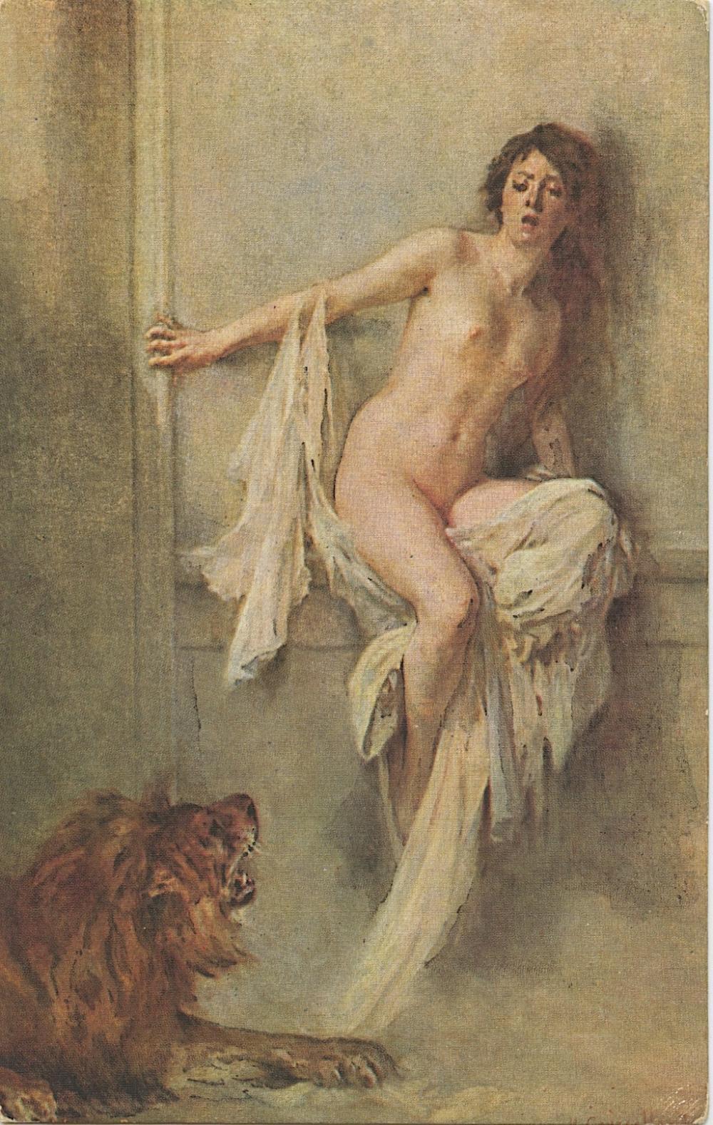 Antique Vintage Rare Postcard Fine Art Nude