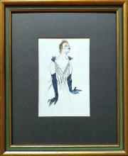 32f4c8d35e5 French Lithograph  Yvette Guilbert  by Toulouse-Lautrec 1930.