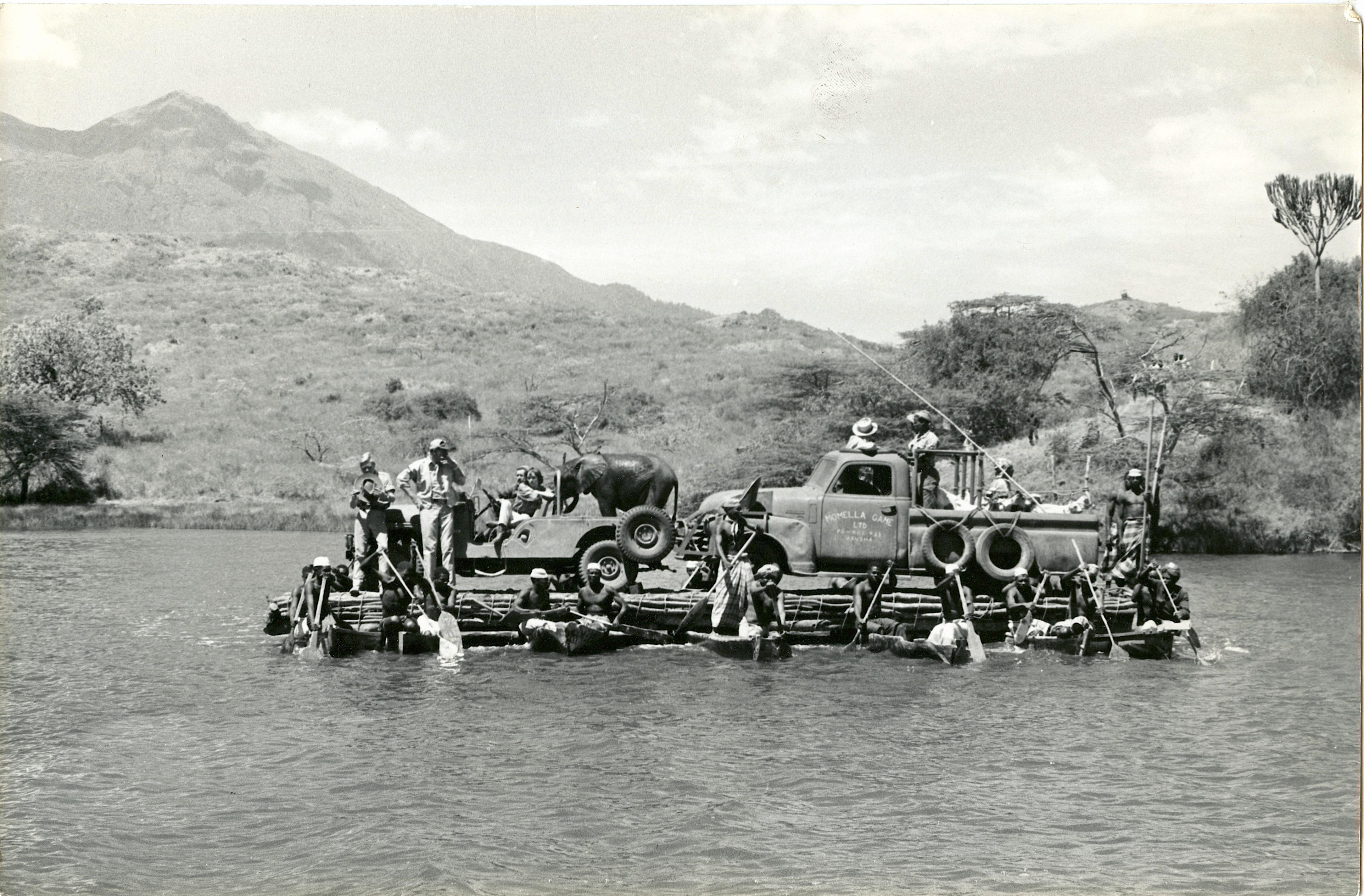 Antique / Vintage Historical Photograph African River Transport