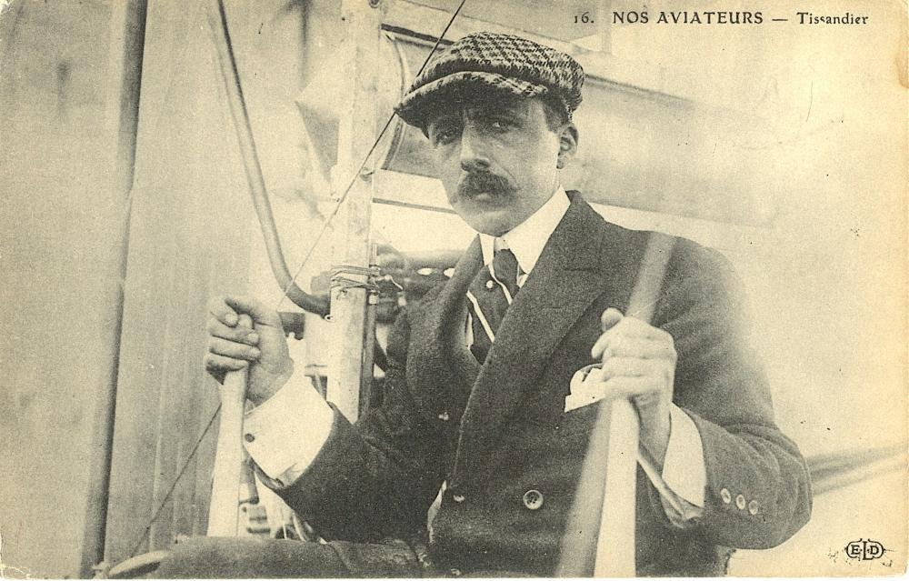 Vintage / Antique French Postcard Aviation Pioneers