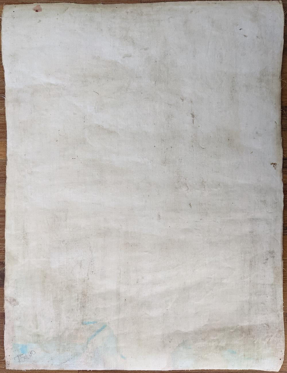 Authentic Vintage Tibetan Buddhist Painting Nicely Done Cobalt Blue