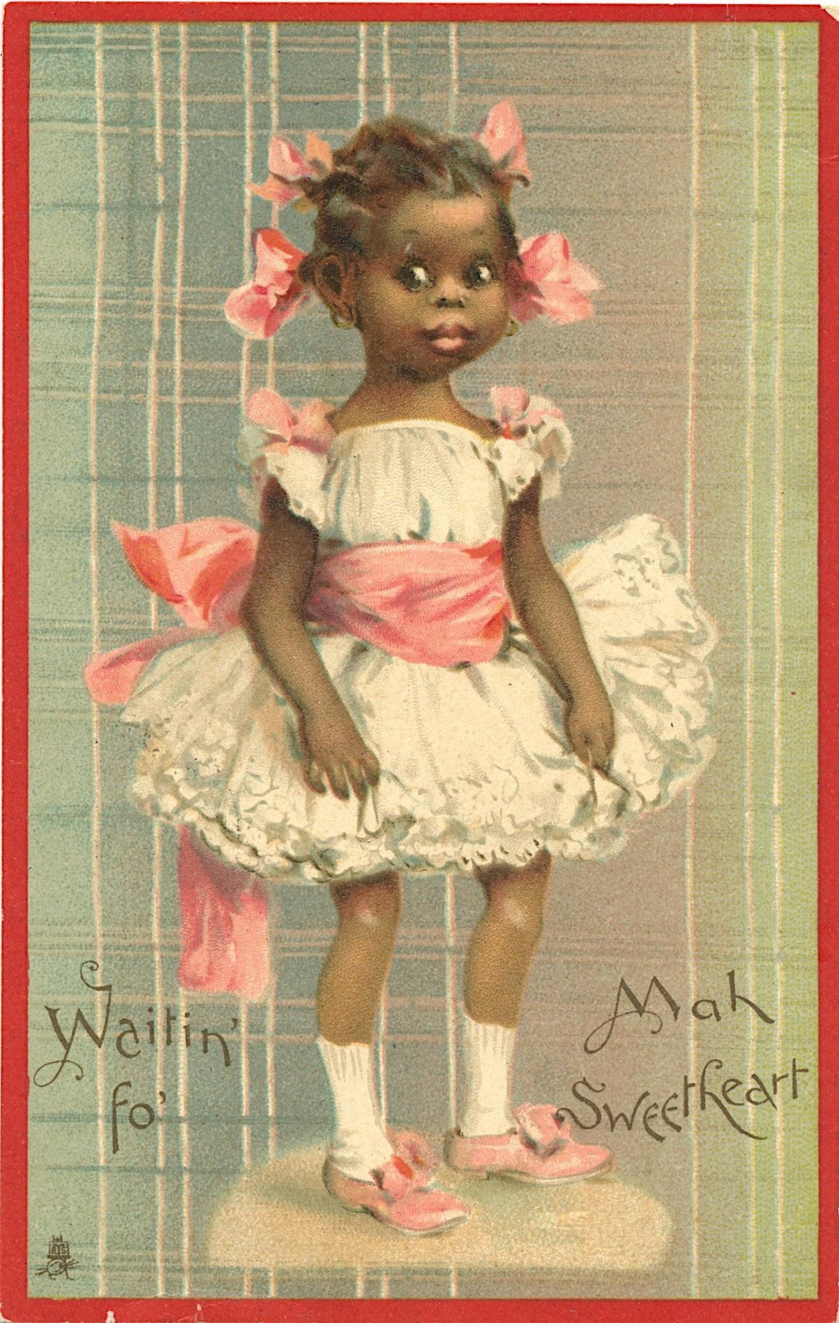 Early Postcard Unusual Rare African Black