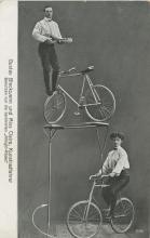 Antique Original Photo PC Circus Bicycle Equilibristics, 1900s