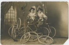 Antique Original  PC Circus Bike Riders, 1890s