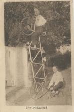 Antique Original PC Circus Bicycle Acrobats 1910