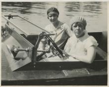 Silver Photo Regatta Racers Belle Epoque, 1928