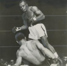 Press Photo, Joe Louis is Down by Jersey Joe Walcott, 1947