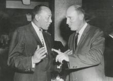 U.P.I. TELEPHOTO Jesse Owens with Dubby Holt, 1959