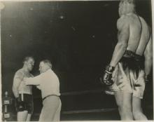 Silver Gelatin Joe Louis vs Unknown fighter, 1930's