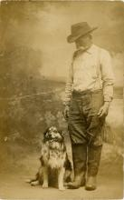 Antique PC American Farmer and Dog