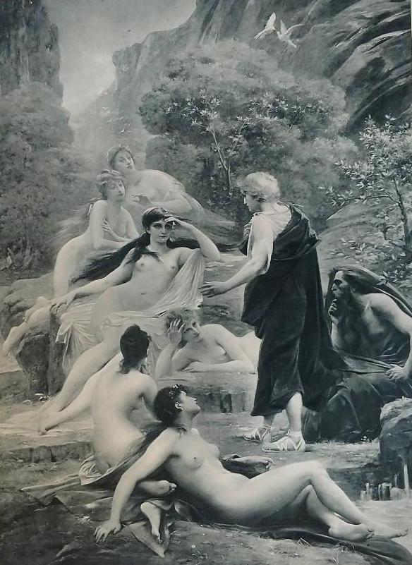 1896 Photogravure LIONEL ROYER Nudes