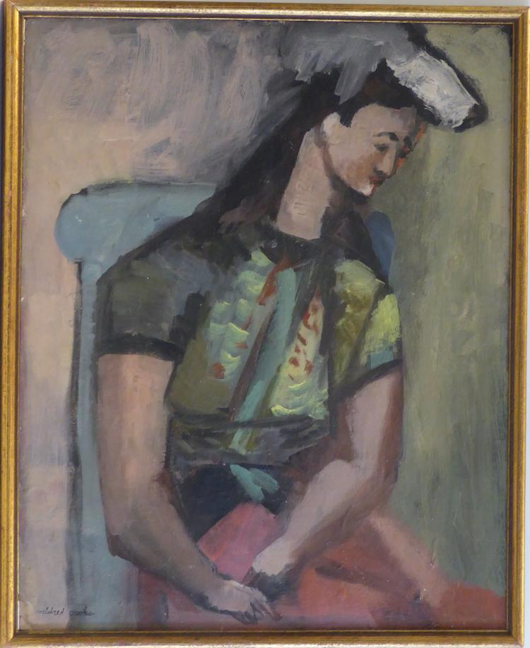 Mildred Crooks (1899 - 1972) A Woman Portrait, signed, Listed