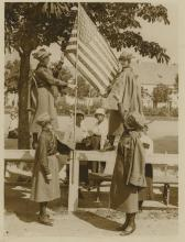Silver Gelatin KEYSTONE  Polish Americans Girl's Scouts, 1940's